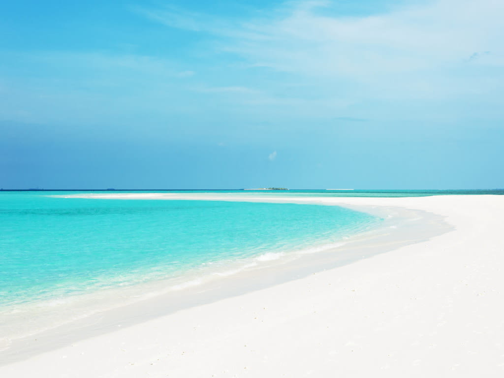 Maldives White Sand Beach
