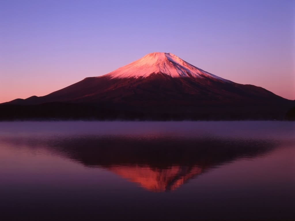 Mount Fuji Red Hues