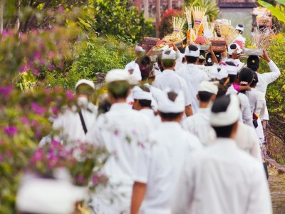 Traditions of culture on the island of Bali, bratan lake
