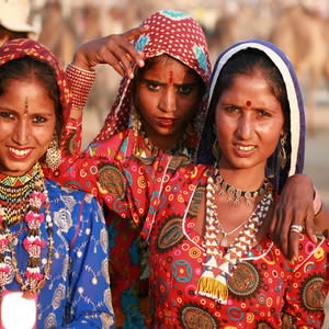 India; Gypsies at the Pushkar Fair