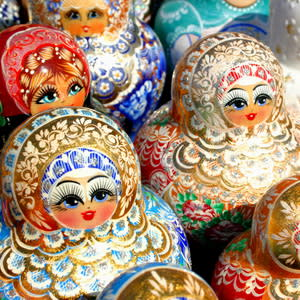 Russia; Matrioshka dolls